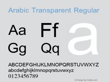 Arabic Transparent Regular Glyph Systems 5-April-96 Font Sample