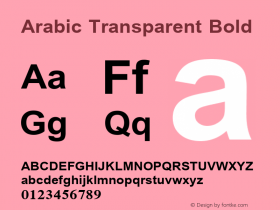 Arabic Transparent Bold Version 1.01图片样张