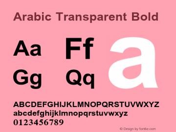 Arabic Transparent Bold Version 1.01图片样张