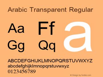 Arabic Transparent Regular Version 1.01 Font Sample