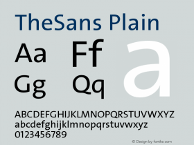 TheSans-Plain 1.000图片样张