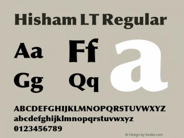 Hisham LT Regular Version 1.10 Build 106图片样张