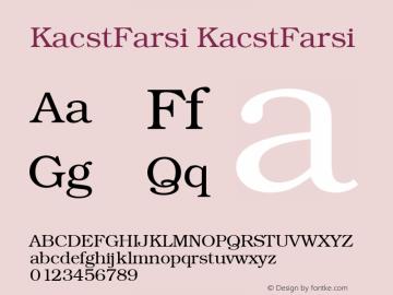 KacstFarsi 1图片样张