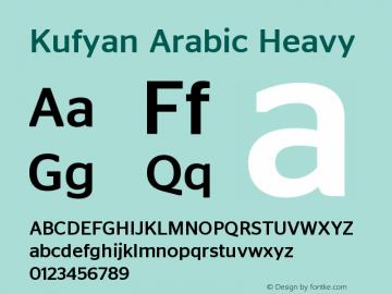 KufyanArabic-Heavy Version 1.000图片样张