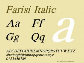 Farisi Italic 1.1图片样张