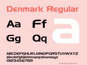 Denmark Regular Altsys Fontographer 3.5  9/25/92图片样张