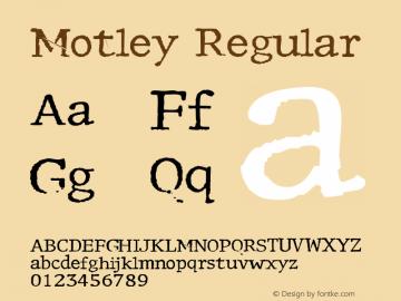 Motley Macromedia Fontographer 4.1.5 1/21/98图片样张