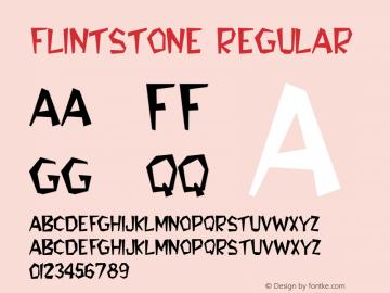 Flintstone Regular Altsys Fontographer 3.5  3/3/93图片样张