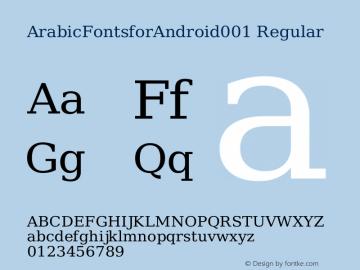 ArabicFontsforAndroid001 Version 1.0.0图片样张