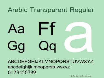 Arabic Transparent Version 1.01图片样张