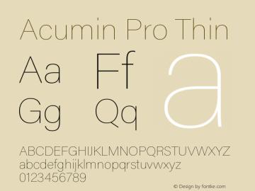 AcuminPro-Thin Version 1.011图片样张