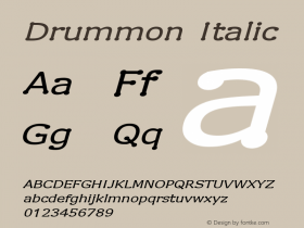 Drummon Italic 1.02图片样张