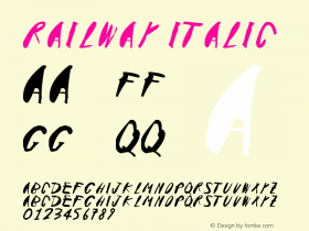 Railway Italic Version 1.00 November 15, 2015, initial release图片样张