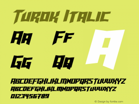 Turok Italic Version 1.10 May 17, 2015图片样张