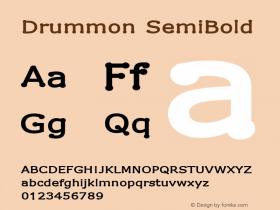 Drummon SemiBold 1.02图片样张