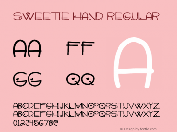 Sweetie Hand Version 1.00 May 23, 2013, initial release图片样张