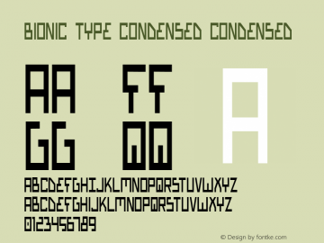 Bionic Type Condensed 1图片样张