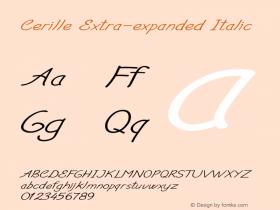 Cerille-ExtraexpandedItalic Version 1.000图片样张