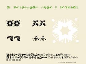 KR Christmas Time 2 Macromedia Fontographer 4.1 12/18/01图片样张