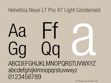HelveticaNeueLTPro-LtCn Version 1.500;PS 001.005;hotconv 1.0.38图片样张