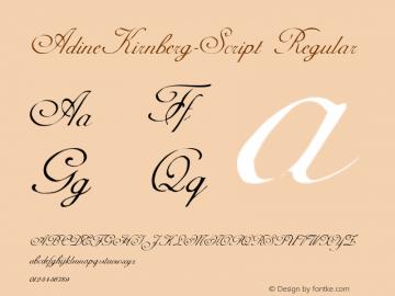 AdineKirnberg-Script Converted from C:\TEMP\ADKS____.TF1 by ALLTYPE图片样张