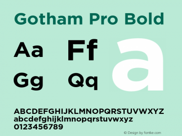 GothamPro-Bold Version 1.100; Cyrillic Support图片样张