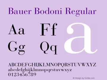 BauerBodoni-Roman Version 001.003; t1 to otf conv Font Sample