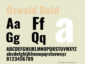 Oswald Bold Version 4.003图片样张