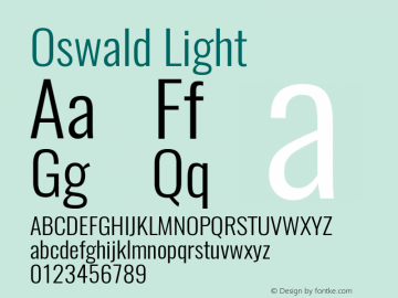Oswald Light Version 4.003图片样张