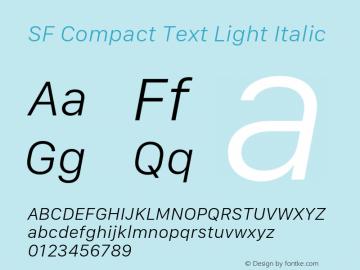 SF Compact Text Light Italic 11.0d10e2图片样张