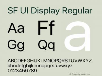 SF UI Display Regular 11.0d44e2图片样张