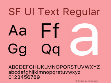 SF UI Text Regular 11.0d59e2图片样张