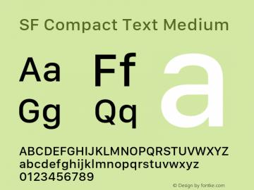 SF Compact Text Medium 11.0d10e2图片样张
