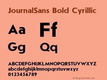 JournalSans Bold Cyrillic 001.000图片样张