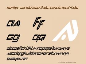 Xephyr Condensed Italic 1图片样张