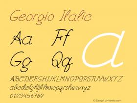 Georgio-Italic Version 1.000图片样张