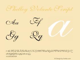 Shelley-VolanteScript OTF 1.0;PS 001.003;Core 1.0.22图片样张