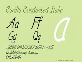 Cerille-CondensedItalic Version 1.000图片样张