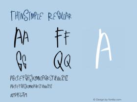 ThinSimple Version 1.00 June 17, 2013, initial release图片样张