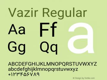 Vazir Version 12.0.0图片样张