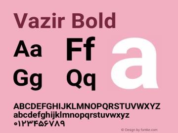 Vazir Bold Version 12.0.0图片样张