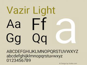 Vazir Light Version 12.0.0图片样张