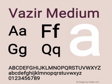 Vazir Medium Version 12.0.0图片样张