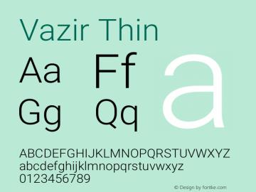 Vazir Thin Version 12.0.0图片样张