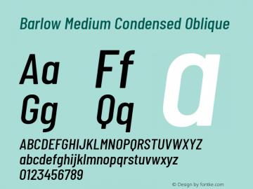 Barlow Medium Condensed Oblique Development Version图片样张