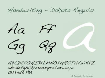Handwriting - Dakota Font Family Handwriting - Dakota-Handwriting