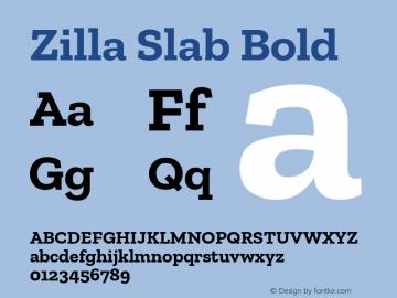 Zilla Slab Bold Bold Version 1.1; 2017; ttfautohint (v1.5)图片样张