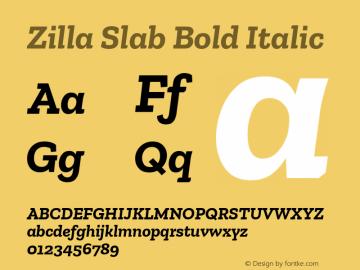 Zilla Slab Bold Bold Italic Version 1.1; 2017; ttfautohint (v1.5)图片样张