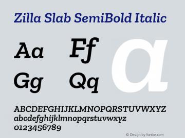 Zilla Slab SemiBold Italic Version 1.1; 2017; ttfautohint (v1.5)图片样张