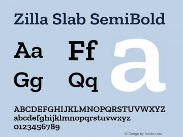 Zilla Slab SemiBold Version 1.1; 2017; ttfautohint (v1.5)图片样张